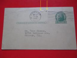 Correspondence Card/Postcard-Chicago 1940.