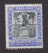 Barbados, Scott #106, Mint Hinged, Lord Nelson Monument, Issued 1906 - Barbados (...-1966)