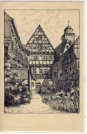 Postkarte, Hof Eines PATRIZIERHAUSES, Adler Und Falken, Deutsche Jugendwanderer, - Germany