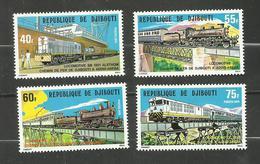 Djibouti N°491 à 494 Neufs** Cote 6.20 Euros