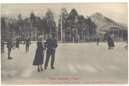 Cpa Asie, Japon - Ice Skating Pond .. Kanaya Hôtel, Nikko ... ( Patinage Sur Glace )  ((S.624)) - Japon