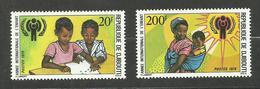 Djibouti N°495, 496 Neufs** Cote 4.65 Euros