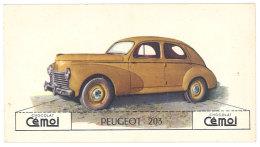 Chromo Chocolat Cemoi - Peugeot 203 - Autres