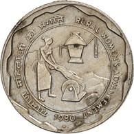 INDIA-REPUBLIC, 25 Paise, 1980, Bombay, TTB+, Copper-nickel, KM:50 - Inde