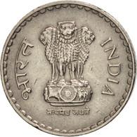 INDIA-REPUBLIC, 5 Rupees, 2000, Calcutta, TTB+, Copper-nickel, KM:154.1 - Indien