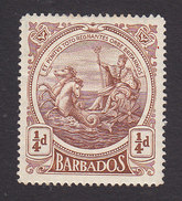 Barbados, Scott #127, Mint Hinged, Seal Of The Colony, Issued 1916 - Barbados (...-1966)
