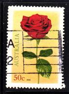Australia Used Scott #2771 50c Red Rose
