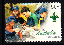 Australia Used Scott #2788 50c Four Scouts Near Tent - Centenary Scouting In Australia