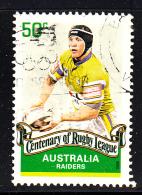 Australia Used Scott #2816 50c Alan Tongue, Raiders - Rugby League Centenary