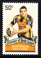 Australia Used Scott #2821 50c Robbie Farah, Wests Tigers - Rugby League Centenary