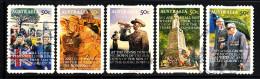 Australia Used Scott #2859-#2863 Set Of 5 ANZAC Day - Coils