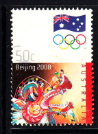 Australia Used Scott #2884 50c Chinese Dragon - 2008 Summer Olympics