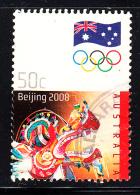 Australia Used Scott #2884 50c Chinese Dragon - 2008 Summer Olympics - Ete 2008: Pékin