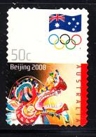 Australia Used Scott #2885 50c Chinese Dragon - 2008 Summer Olympics - Ete 2008: Pékin