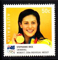 Australia Used Scott #2912 50c Stephanie Rice, Swimming - Gold Medallists - 2008 Summer Olympics