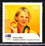 Australia Used Scott #2914 50c Leisel Jones, Swimming - Gold Medallists - 2008 Summer Olympics