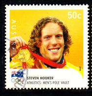 Australia Used Scott #2924 50c Steven Hooker, Pole Vault - Gold Medallists - 2008 Summer Olympics