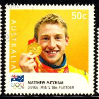 Australia Used Scott #2925 50c Matthew Mitcham, Diving - Gold Medallists - 2008 Summer Olympics