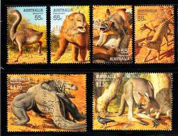 Australia Used Scott #2975-#2980 Set Of 6 Large Extinct Animals