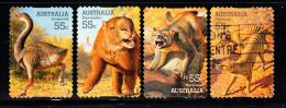 Australia Used Scott #2981-#2984 Set Of 4 Large Extinct Animals