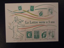 """FRANCE 2014 BLOC FEUILLET """" LA LETTRE VERTE A 3 ANS """" Neuf **"""