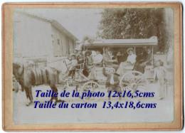 04 Trévans Près D'Estoublon Rare Photo Attelage Transport En 1907 - Autres Communes