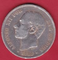 Espagne - 5 Pesetas Argent - Alfonso XII - 1884 - TB - [ 1] …-1931 : Royaume