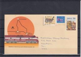 Australia Postal Stat Envelop 22c Used  Tarcoola- Alice Springs Railway