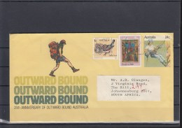 Australia Postal Stat Envelop 24c Used Outward Bound