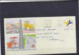 Australia Postal Stat Envelop 30c Used Road Congress