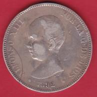 Espagne - 5 Pesetas Argent - Alfonso XIII - 1892 - TB - [ 1] …-1931 : Royaume