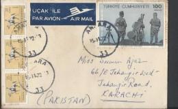 Turkey Airmail 1972 Great Offensive 100 Kuruş, Ataturk Statue, Ethnographic Museum, Ankara 25 Kuruspostal History C - Brieven En Documenten