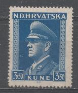Croatia 1944.Scott #68 (M) Ante Pavelich, Stateman * - Croatie