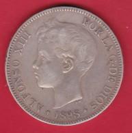 Espagne - 5 Pesetas Argent - Alfonso XIII - 1898 - TB - [ 1] …-1931 : Royaume