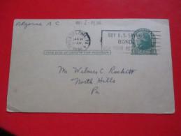"Correspondence Card/Postcard-Philadelphia 1936.-Slogan:""Buy U.S. Savings Bond Ask Your Postmaster"""