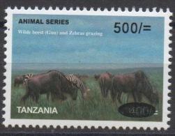 Tanzania 2008? Animal Series Wilde Beest (Gnu) And Zebras Grazing Faune Animaux Tiere Wild 500 - 400 Sh RARE MNH** - Tanzania (1964-...)