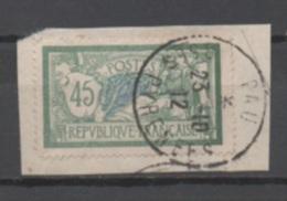 """France N°143 Sur Fragment, Cachet """"Pau, Basses Pyrénées"""""""