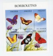 Angola 1998-PapillonsYT 1121/6+B39***MNH
