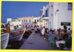 PAROS Island - Restaurant The Small Port -  Olympic Games Stamp  On The Back  .café