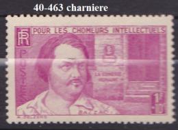 FRANCE   ANNEE 1940 N° 463 NEUF Avec Charniere
