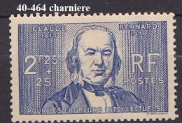 FRANCE   ANNEE 1940 N° 464 NEUF Avec Charniere