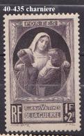FRANCE   ANNEE 1940 N° 465 NEUF Avec Charniere