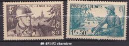 FRANCE   ANNEE 1940 N° 451/52 NEUF Avec Charniere