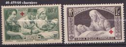 FRANCE   ANNEE 1940 N° 459/60 NEUF Avec Charniere