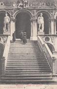 VENEZIA-SCALA DEI GIGANTI-VIAGGIATA IL 1902-OTTIMA CONSERVAZIONE-2 SCANN- - Venezia (Venice)