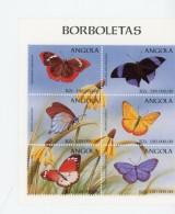 Angola 1998-Papillons-1174/9+B44***MNH