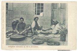 Cpa - Indigènes Moulants Du Blé à Jérusalem      ((S.651)) - Israel