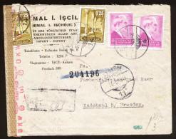 A4307) Türkei Turkey R-Brief Von Istanbul 29.8.43 Nach Radebeul Mit Chem Zensur - 1921-... Republik