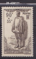 FRANCE ANNEE 1939 N° 420 NEUF*** - Nuovi
