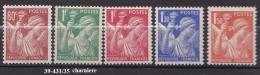 FRANCE ANNEE 1939 N° 431/35 NEUF Charniere Ou Trace